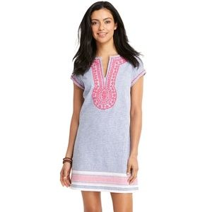 Vineyard Vines Stripe Embroidered Tunic Dress